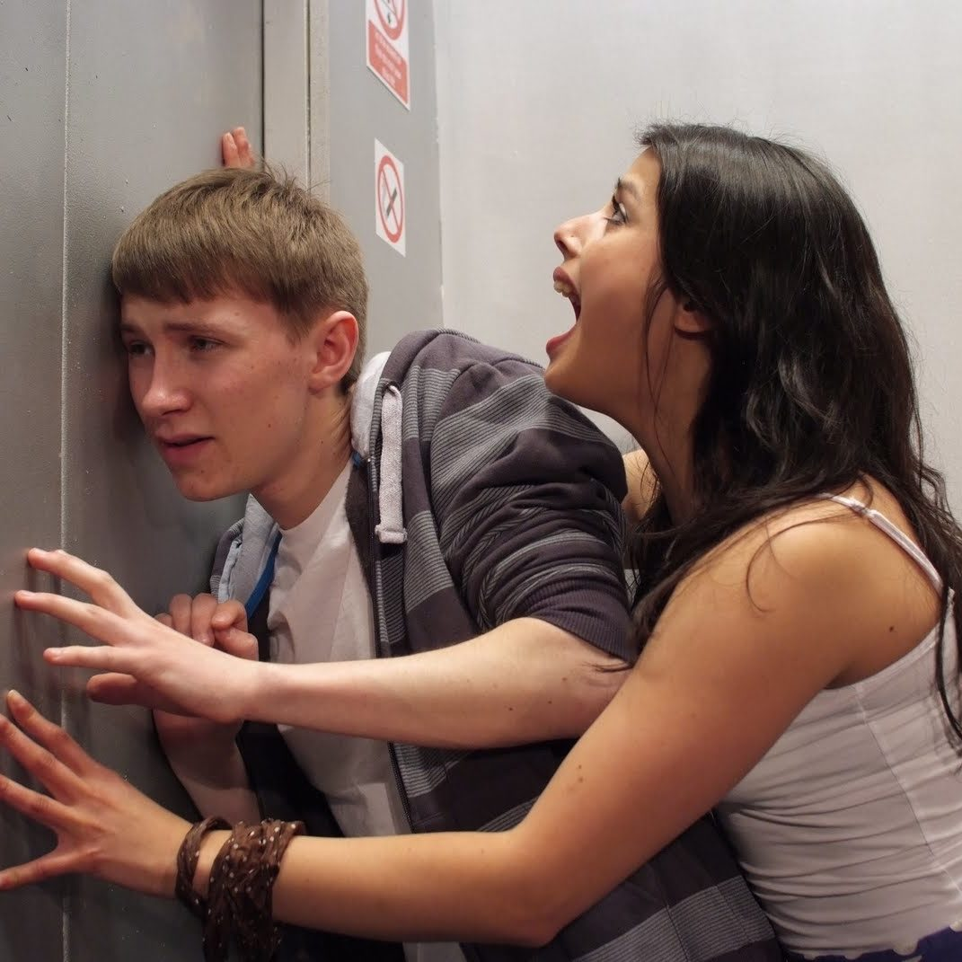 Elevator is a play that explores what happens when romantic adventure turns to tension for two teens in a jammed elevator.