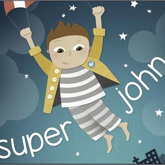 Superjohn is a life-inspired play about a child who uses imagination to overcome adversity